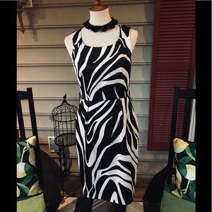 I.N. Studio Zebra Print Sheath Dress Size 6